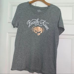 J Crew Beachy Keen Crab T-Shirt Collector Tees